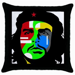 Che Guevara Throw Pillow Case (black) by Valentinaart