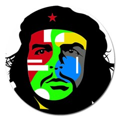 Che Guevara Magnet 5  (round) by Valentinaart