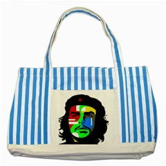 Che Guevara Striped Blue Tote Bag by Valentinaart