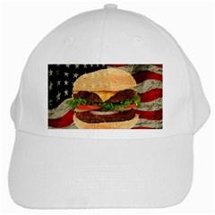 Hamburger White Cap by Valentinaart