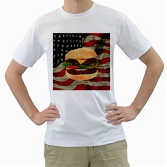 Hamburger Men s T Shirt (white) (two Sided) by Valentinaart