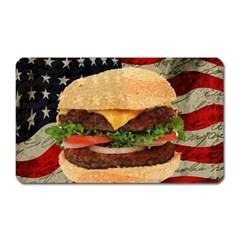 Hamburger Magnet (Rectangular)