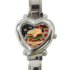 Hamburger Heart Italian Charm Watch