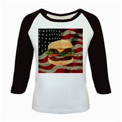 Hamburger Kids Baseball Jerseys by Valentinaart