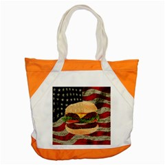 Hamburger Accent Tote Bag by Valentinaart