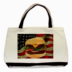 Hamburger Basic Tote Bag (two Sides) by Valentinaart