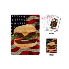 Hamburger Playing Cards (mini)  by Valentinaart