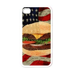 Hamburger Apple Iphone 4 Case (white) by Valentinaart