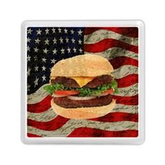 Hamburger Memory Card Reader (square)  by Valentinaart