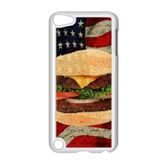 Hamburger Apple Ipod Touch 5 Case (white) by Valentinaart