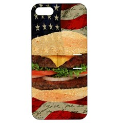Hamburger Apple Iphone 5 Hardshell Case With Stand by Valentinaart