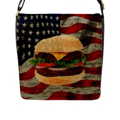 Hamburger Flap Messenger Bag (l)  by Valentinaart