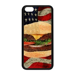 Hamburger Apple Iphone 5c Seamless Case (black) by Valentinaart
