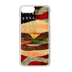 Hamburger Apple Iphone 7 Plus White Seamless Case by Valentinaart
