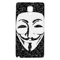 Antonymous   Galaxy Note 4 Back Case by Valentinaart
