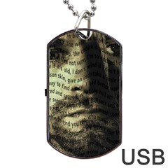 Kurt Cobain Dog Tag Usb Flash (two Sides) by Valentinaart