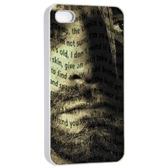 Kurt Cobain Apple Iphone 4/4s Seamless Case (white) by Valentinaart