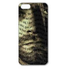 Kurt Cobain Apple Seamless Iphone 5 Case (clear) by Valentinaart