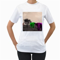 Africa  Women s T Shirt (white) (two Sided) by Valentinaart