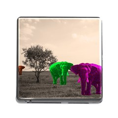Africa  Memory Card Reader (square) by Valentinaart