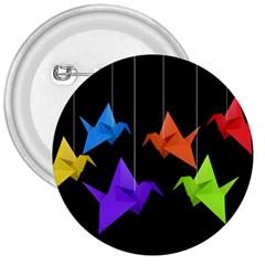 Paper Cranes 3  Buttons by Valentinaart