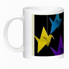 Paper Cranes Night Luminous Mugs by Valentinaart