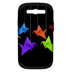 Paper Cranes Samsung Galaxy S Iii Hardshell Case (pc+silicone) by Valentinaart