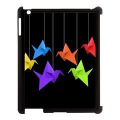 Paper Cranes Apple Ipad 3/4 Case (black) by Valentinaart