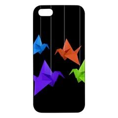 Paper Cranes Iphone 5s/ Se Premium Hardshell Case by Valentinaart