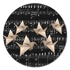 Paper Cranes Magnet 5  (round) by Valentinaart