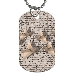 Paper Cranes Dog Tag (two Sides) by Valentinaart