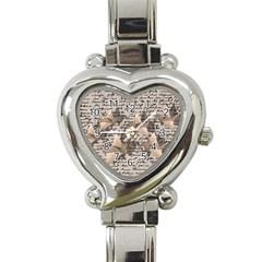 Paper Cranes Heart Italian Charm Watch by Valentinaart
