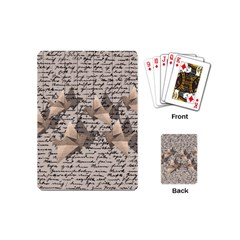 Paper Cranes Playing Cards (mini)  by Valentinaart