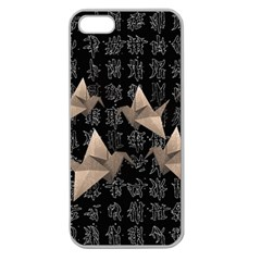 Paper Cranes Apple Seamless Iphone 5 Case (clear) by Valentinaart
