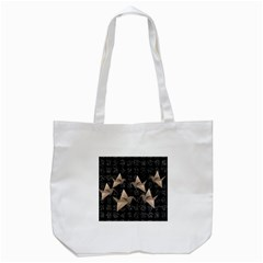 Paper Cranes Tote Bag (white) by Valentinaart