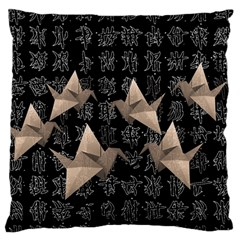 Paper Cranes Large Flano Cushion Case (one Side) by Valentinaart