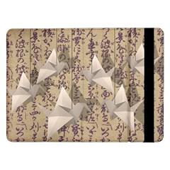 Paper Cranes Samsung Galaxy Tab Pro 12 2  Flip Case by Valentinaart