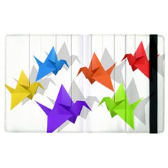 Paper Cranes Apple Ipad 3/4 Flip Case by Valentinaart