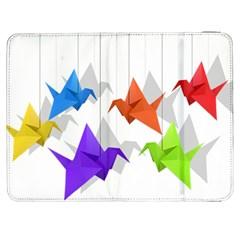 Paper Cranes Samsung Galaxy Tab 7  P1000 Flip Case by Valentinaart