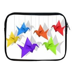 Paper Cranes Apple Ipad 2/3/4 Zipper Cases by Valentinaart