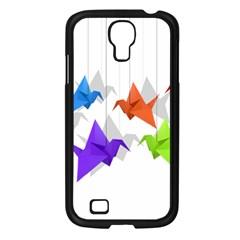 Paper Cranes Samsung Galaxy S4 I9500/ I9505 Case (black) by Valentinaart