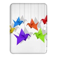 Paper Cranes Samsung Galaxy Tab 4 (10 1 ) Hardshell Case  by Valentinaart