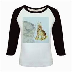 Rabbit  Kids Baseball Jerseys by Valentinaart