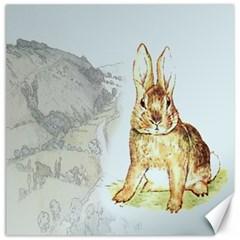 Rabbit  Canvas 16  X 16   by Valentinaart