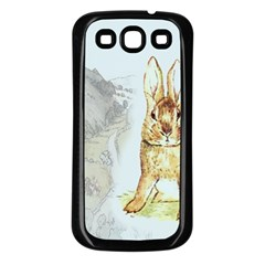 Rabbit  Samsung Galaxy S3 Back Case (black) by Valentinaart