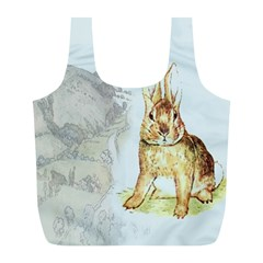 Rabbit  Full Print Recycle Bags (l)  by Valentinaart