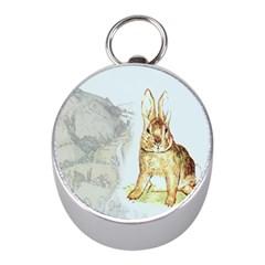 Rabbit  Mini Silver Compasses by Valentinaart