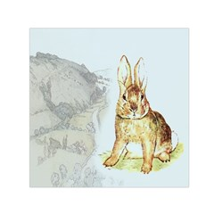 Rabbit  Small Satin Scarf (square) by Valentinaart