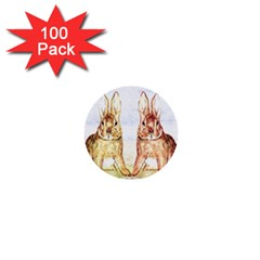 Rabbits  1  Mini Buttons (100 Pack)  by Valentinaart