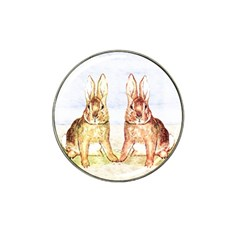Rabbits  Hat Clip Ball Marker by Valentinaart